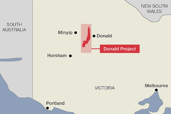 Donald Mineral Sands Map